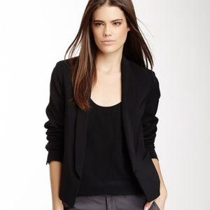 Vince. Black Open Front Shawl Collar Blazer Jacket